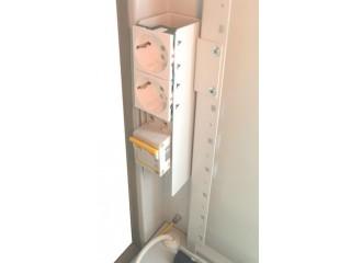 Установка вводного блока в шкаф