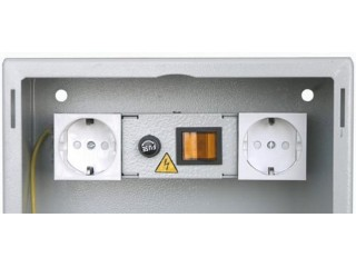 Блок розеток на 2 выхода с выключателем для ШДС