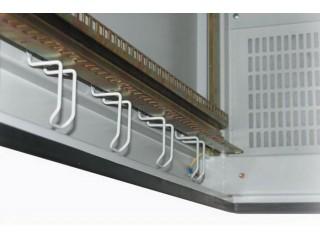 Установленные полукольца для укладки кабеля