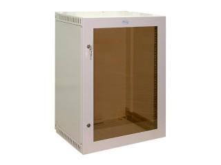 Шкаф навесной 15U со стеклянной дверцей