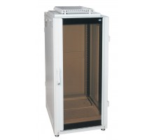 "Шкаф напольный 19"" 24U дверь стекл./мет. (600 х 800 х 1300)"