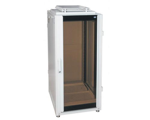 "Шкаф напольный 19"" 24U дверь стекл./мет. (600 х 600 х 1300)"