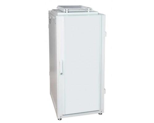 """Шкаф напольный 19"""" 24U дверь мет./мет. (600 х 600 х 1300)"""