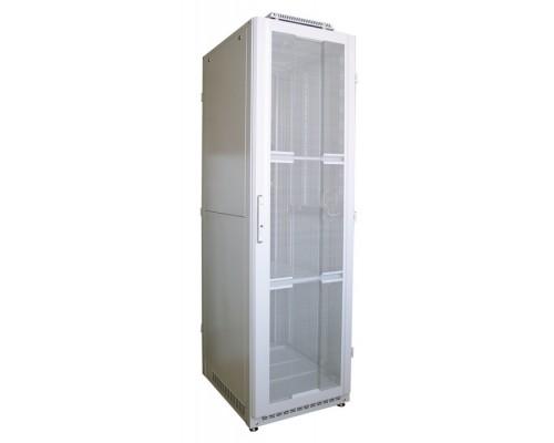 """Шкаф напольный 19"""" 42U дверь мет.перф./мет.перф. (600 х 600 х 2100)"""