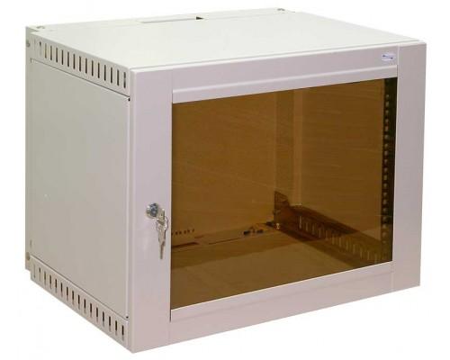 """Шкаф настенный 19"""" 9U дверь стеклянная  (560 х 400 х 450)"""