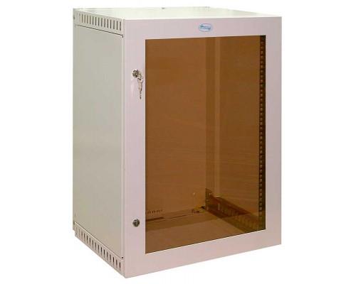 """Шкаф настенный 19"""" 15U дверь стеклянная  (560 х 400 х 710)"""